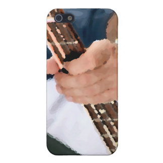 bass painterly player hand on neck male photograph iPhone 5 cases