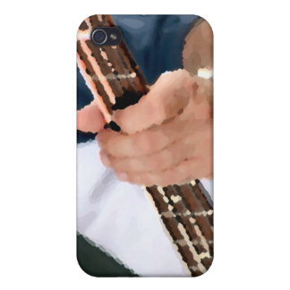 bass painterly player hand on neck male photograph iPhone 4/4S cover