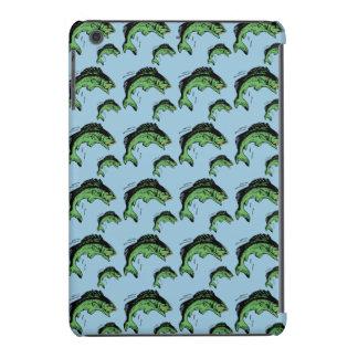 Bass Pattern Blue iPad Mini Cover