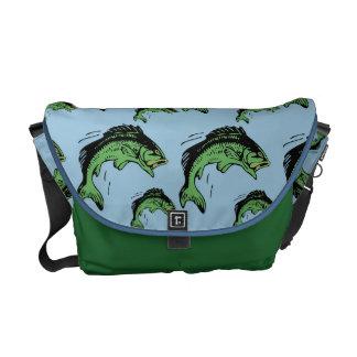 Bass Pattern Blue Courier Bags