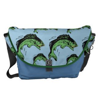 Bass Pattern Blue Courier Bag