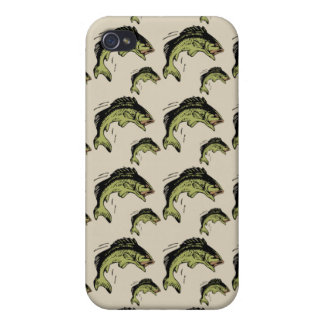 Bass Pattern Tan Covers For iPhone 4