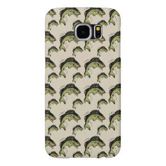 Bass Pattern Tan Samsung Galaxy S6 Case