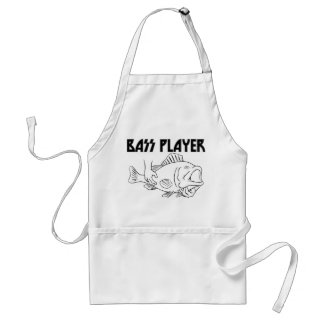Bass Player Adult Apron