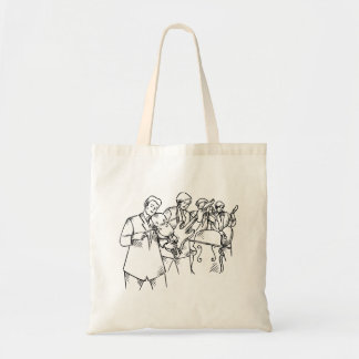 Bass Player Band Outline Bluegrass Tote Bag