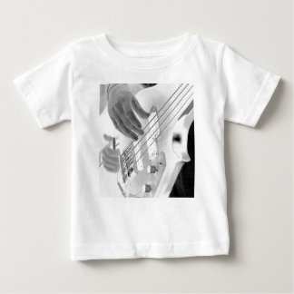 Bass player , bass and hand, negative image baby T-Shirt