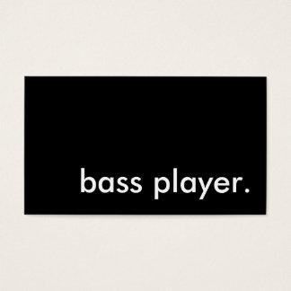 bass player. business card