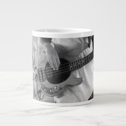 bass player bw four string bass hands drummer back 20 oz large ceramic coffee mug
