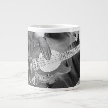 bass player bw invert four string bass hands drumm 20 oz large ceramic coffee mug