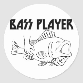 Bass Player Classic Round Sticker