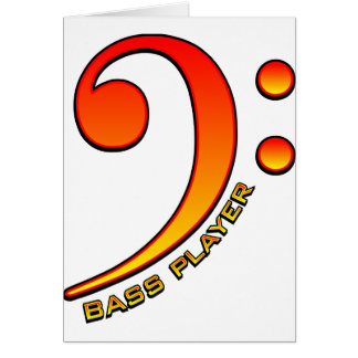 Bass Player (Clef) Card
