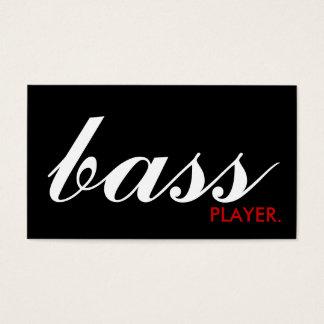 BASS player. (color customizable) Business Card