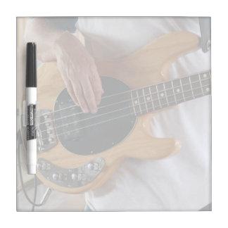 bass player four string bass hands drummer backgro Dry-Erase board
