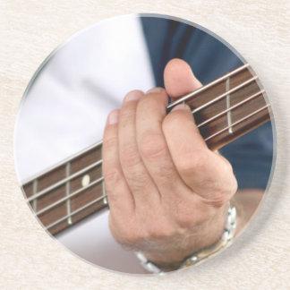 bass player hand on neck male photograph jpg coaster