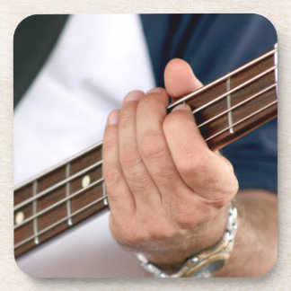 bass player hand on neck male photograph jpg drink coasters