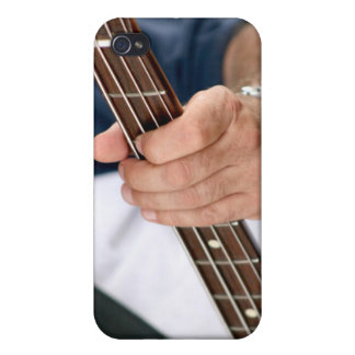 bass player hand on neck male photograph jpg iPhone 4/4S case