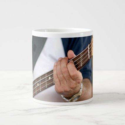 bass player hand on neck male photograph.jpg extra large mug
