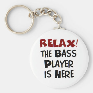 bass player here keychain
