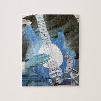 bass player invert four string bass hands drummer jigsaw puzzle