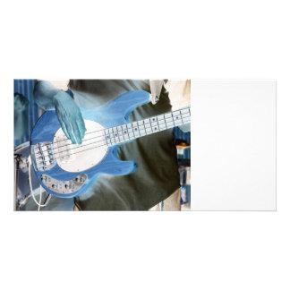 bass player invert four string bass hands drummer photo greeting card