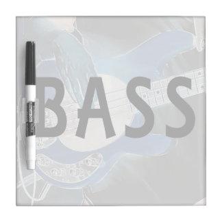 bass player invert text four string bass hands Dry-Erase board
