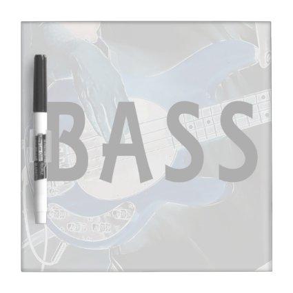 bass player invert text four string bass hands Dry-Erase boards