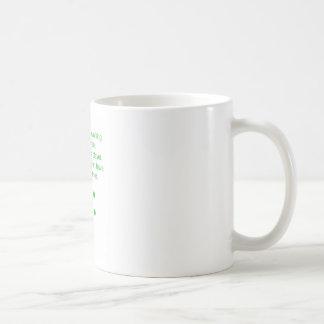 Bass player joke coffee mug