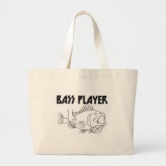 Bass Player Jumbo Tote Bag
