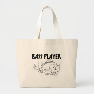 Bass Player Large Tote Bag