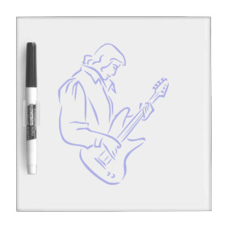 bass player outline male blue.png Dry-Erase board