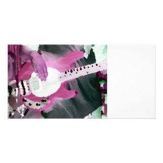 bass player painterly invert mag four string bass custom photo card