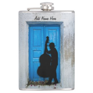 Bass Player Personalized Flasks