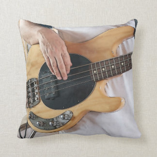 bass player posterized four string bass hands  .jp throw pillows
