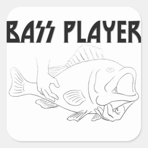 Bass Player Square Sticker