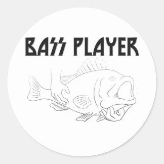 Bass Player Classic Round Sticker