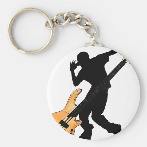 Bass Player Swag Keychain
