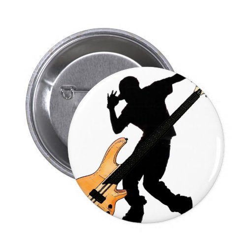 Bass Player Swag Pinback Button