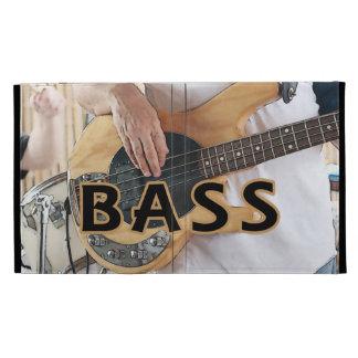 bass player text four string bass hands iPad case