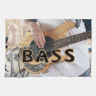 bass player text four string bass hands kitchen towel
