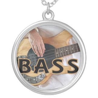 bass player text four string bass hands custom jewelry