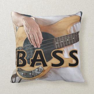bass player text four string bass hands throw pillow