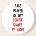 Bass Player Zombie Slayer Beverage Coaster