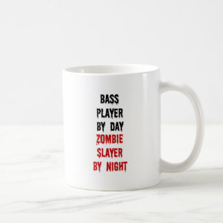 Bass Player Zombie Slayer Classic White Coffee Mug