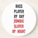 Bass Player Zombie Slayer Coasters