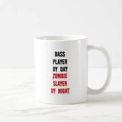 Bass Player Zombie Slayer Mugs