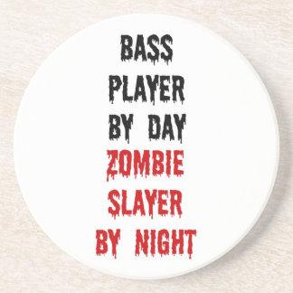 Bass Player Zombie Slayer Sandstone Coaster