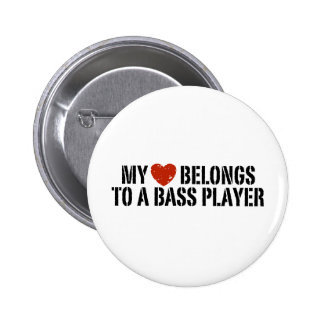 Bass Players Girl Button