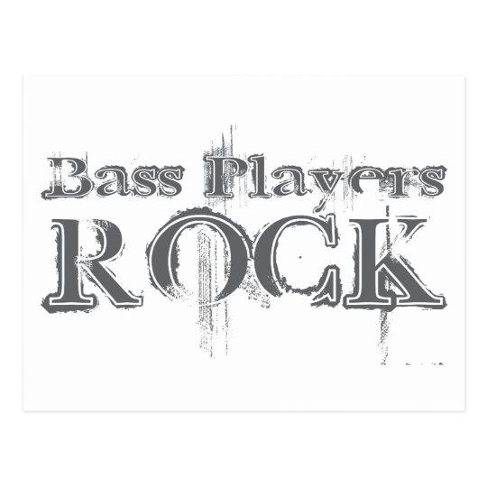 Bass Players Rock Postcard