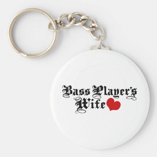 Bass Player's Wife Basic Round Button Keychain