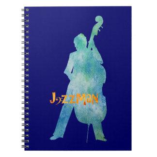 Bass Playing Jazzman Notebook